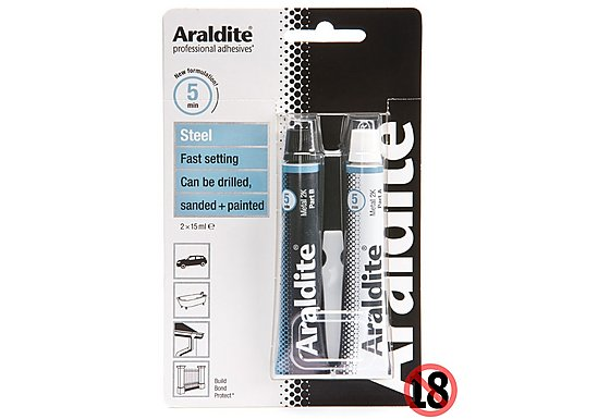 Araldite Rapid Steel Tubes 2x 15ml