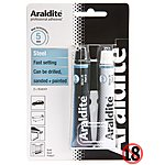 image of Araldite Rapid Steel Tubes 2x 15ml