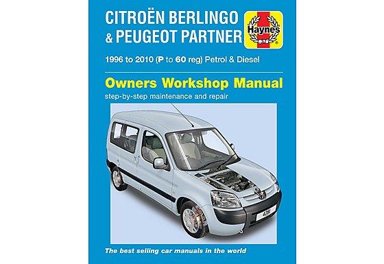 Haynes Citroen Berlingo & Peugeot Partner (96 to 05) Manual