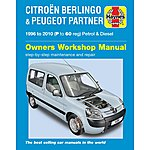image of Haynes Citroen Berlingo & Peugeot Partner (96 to 05) Manual