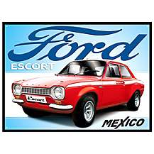 image of Ford Escort Mexico Metal Wall Sign