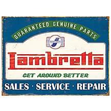 image of Lambretta Genuine Parts Metal Wall Sign
