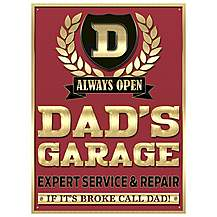 image of Dad's Garage Metal Wall Sign