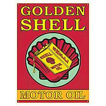 image of Shell Motor Oil Metal Wall Sign