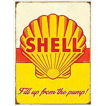 image of Shell Pump Metal Wall Sign