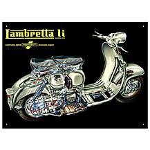 image of Lambretta Li Mechanical Metal Wall Sign