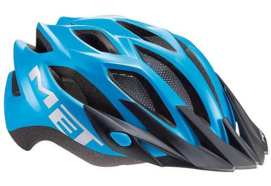 Halfords | MET Crossover Bike Helmet - Cyan 52-59cm