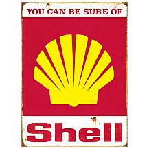 image of Shell Can Be Sure Of Metal Wall Sign