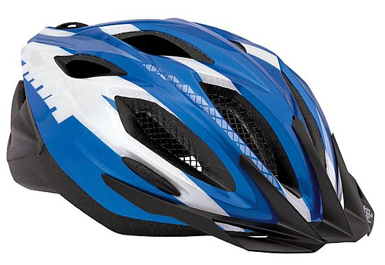 MET Xilo Bike Helmet - Blue and White(54-61cm)