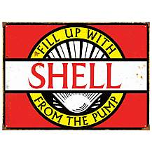 image of Shell Vintage Metal Wall Sign