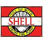 image of Shell Vintage Metal Wall Sign