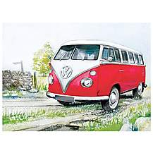 image of VW Watercolour Country Metal Wall Sign