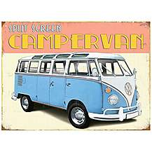 image of VW Retro Camper Metal Wall Sign
