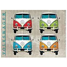 image of VW Camper Colour Quad Metal Wall Sign