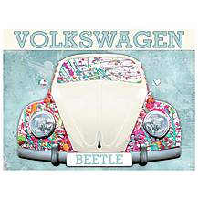 image of VW Beetle Paint Splat Metal Wall Sign