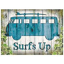 image of VW Camper Surf's Up Metal Wall Sign