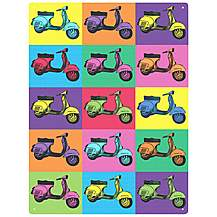 image of Vespa Pop Art Metal Wall Sign