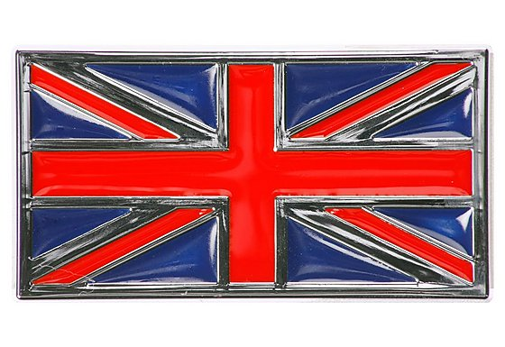 Trillogy Union Flag Chrome Badge