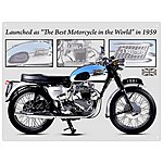 image of Triumph Bonneville Metal Wall Sign
