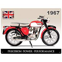 image of Triumph Tiger Cub Metal Wall Sign
