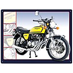 image of Honda 400 Four Metal Wall Sign