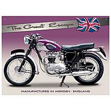 image of Triumph TR6 Trophy Metal Wall Sign