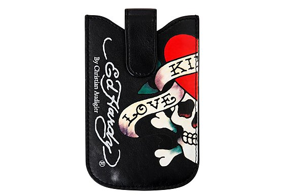 Ed Hardy Universal Press Stud Black Case - Love Kills Design