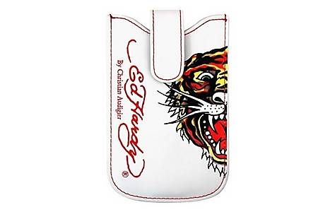 image of Ed Hardy Universal Press Stud White Case - Tiger Design
