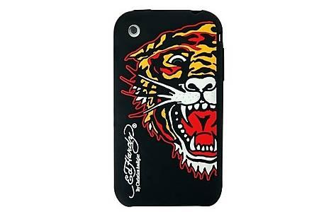 image of Ed Hardy Gel iPhone 3 Black Tiger Case