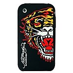 image of Ed Hardy Gel iPhone 3 Black Tiger Case