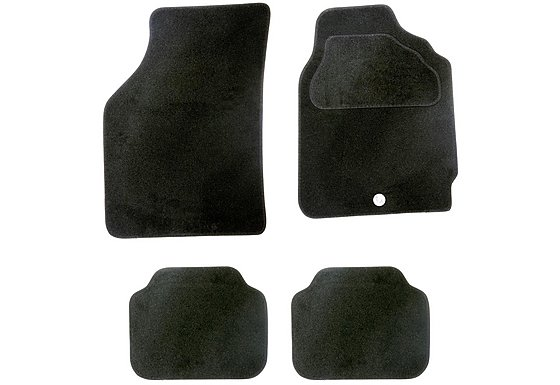 Halfords Semi Tailored Car Mats Black - Shape 1