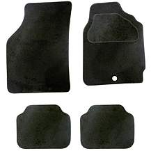 image of Halfords Semi Tailored Car Mats Black - Shape 1