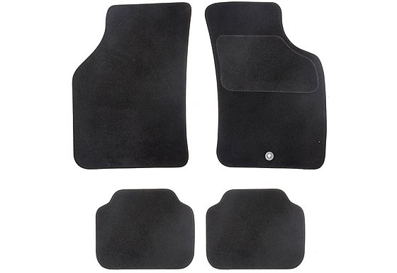 Halfords Semi Tailored Car Mats Black - Shape 3
