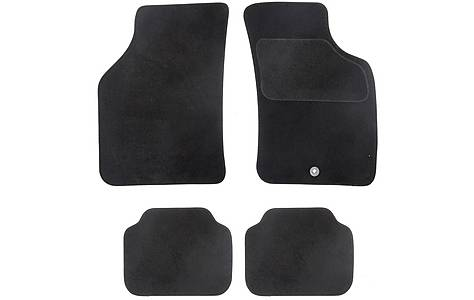 image of Halfords Semi Tailored Car Mats Black - Shape 3