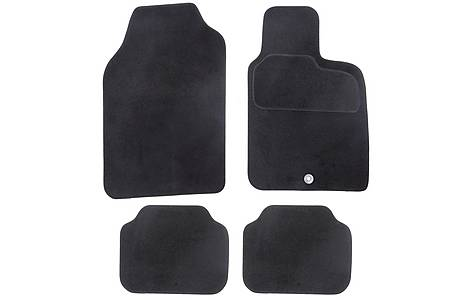 image of Halfords Semi Tailored Car Mats Black - Shape 4