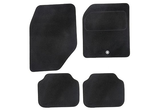 Halfords Semi Tailored Car Mats Black - Shape 5