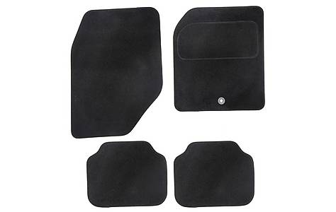 image of Halfords Semi Tailored Car Mats Black - Shape 5
