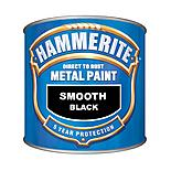 Hammerite Direct to Rust Metal Paint Smooth Black 250ml