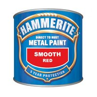 Hammerite Direct to Rust Metal Paint Smooth Red 250ml
