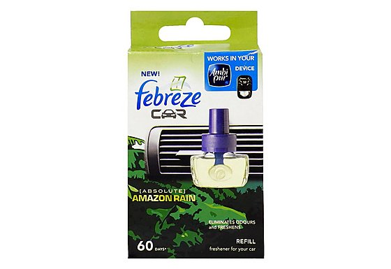 Febreze Amazon Rain Car Air Freshener Refill