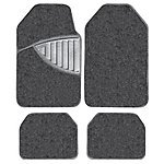 image of Michelin Premium 4 Piece Carpet Car Mat Set Black