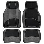 Michelin Carpet & Rubber 4 Piece Car Mat Set Black