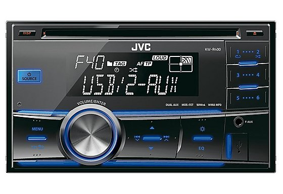 JVC KW-R400 2-DIN USB/CD Receiver with Dual Aux