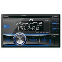 JVC KW-R400 2-DIN USB Car Stereo with Dual Aux