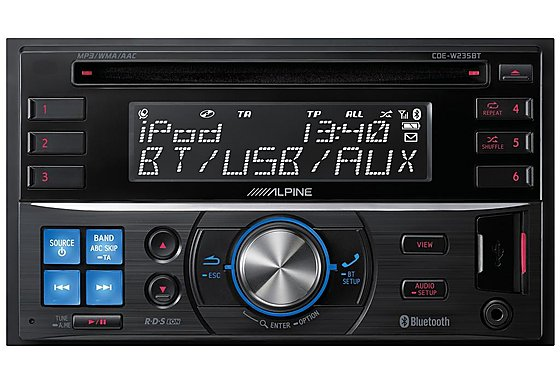 Alpine CDE-W235BT CD Tuner with Parrot Bluetooth