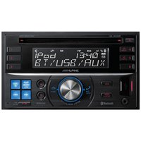 Alpine CDE-W235BT Double Din Car Stereo with Parrot Bluetooth