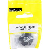 Halfords Aheadset Star Fangled Nut - 1 1/8""