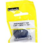 image of Halfords Aheadset Top Cap & Bolt - 1 1/8""