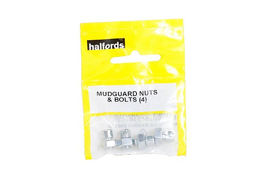 Halfords Bike Mudguard Nuts and Bolts x 4