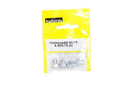 image of Halfords Bike Mudguard Nuts and Bolts x 4